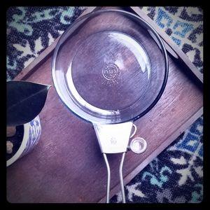 Vintage Pyrex 7in Flameware Glass Skillet